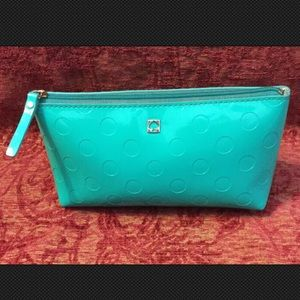 patent leather style teal Kate Spade Cosmetic Bag